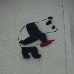 By Guilhem Vellut from Paris, France (Drunk panda @ Street art @ Montmartre @ Paris) [CC BY 2.0 (http://creativecommons.org/licenses/by/2.0)], via Wikimedia Commons
